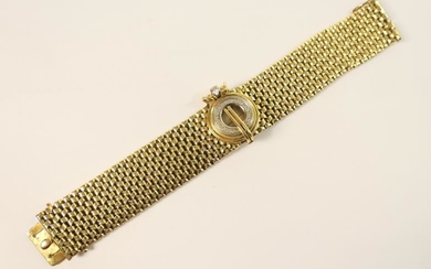 Omega lady's 18ct gold and diamond cocktail watch, signed...