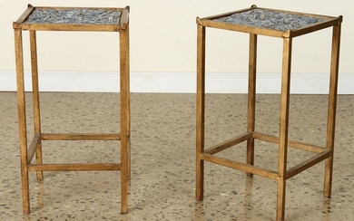 PAIR GILT IRON SIDE TABLES MANNER OF RAMSAY