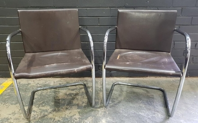 Pair of Brueur Style Chairs (h:78 x w:56cm)