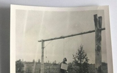 Photo of Ukrainian Partisan Hanged by Germans