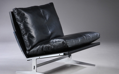 Preben Fabricius and Jørgen Kastholm. Lounge chair model Bo-561, black leather
