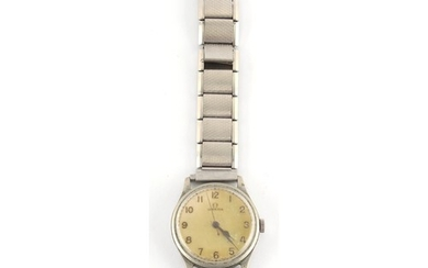 Property of a lady - an Omega military wristwatch, stamped t...