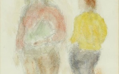 RAPHAEL SOYER MIXED MEDIA WATERCOLOR & DRAWING