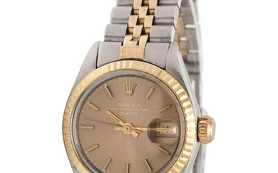 ROLEX, STAINLESS STEEL AND 14K YELLOW GOLD REF. 6917