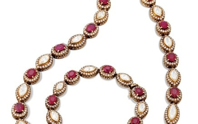 RUBY AND DIAMOND NECKLACE, RETAILED BY AMRAPALI
