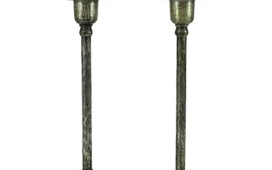 Roycroft Arts & Craft Silverplate Copper Candlesticks