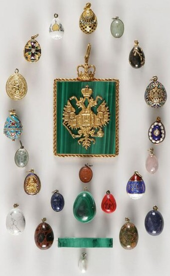 Spectacular 24 Piece Russian Jewelry Group