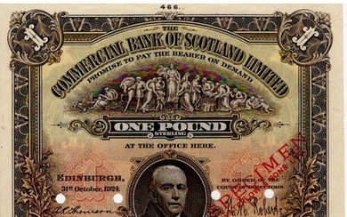 Scotland, Commercial Bank of Scotland 1 Pound dated 31st Oct...
