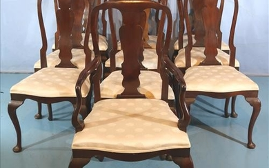 Set of 10 early queen Anne dining chairs
