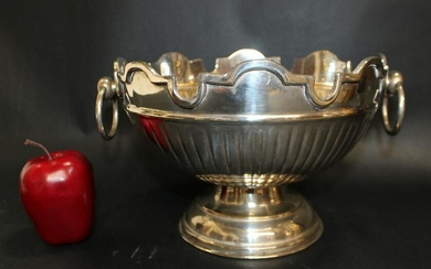 Silverplate scallop edge footed bowl