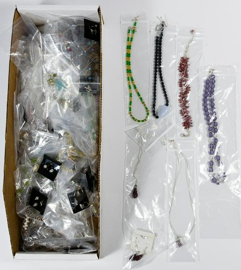 Sterling Silver and Crystal Jewelry Assortment