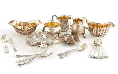 Sterling silver tablewares and flatware (18pcs)