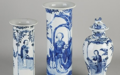 Three antique Chinese porcelain Kang Xi style