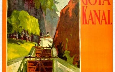 Travel Poster Gota Canal Sweden's Most Beautiful