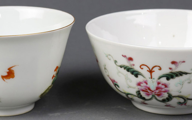 Two Chinese Famille-rose Bowls