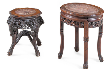 Two Chinese Hardwood Stands