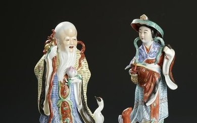 Two Chinese Porcelain Figures of Immortals