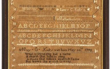 Two Needlework Samplers, Including a 1795 Massachusetts