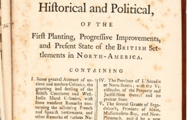 Douglass   Summary, Historical and Political.. of the British Settlements in North-America, 1755, 2 volumes