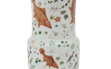 A large Chinese porcelain vase, gu, mid-19th...