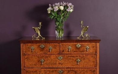 A William & Mary mulberry or field maple and marquetry chest of drawers, in the manner of Coxed & Woster, circa 1690
