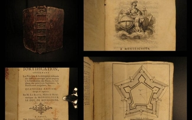 1756 Fortification Military & WAR Forts Illustrated