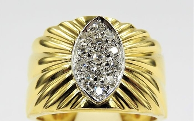 18 kt. Bicolour, White gold, Yellow gold - Ring - 0.30 ct Diamond