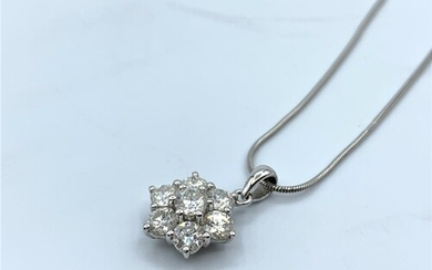 18ct White Gold And Diamond Pendant With Approx. 2ct in Tota...