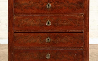 19TH C. CONTINENTAL MARBLE TOP MAHOGANY COMMODE
