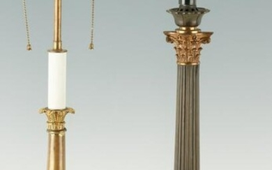2 French Empire Style Candlestick Lamps inc. Ormolu