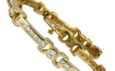 5.00 Carat Natural Diamond Channel Tennis Bracelet 14