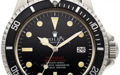 """54115: Rolex, Double Red"""" Sea-Dweller Submariner, Stain"""