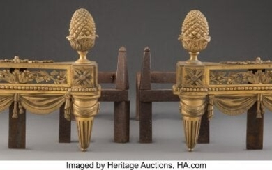 61015: A Pair of French Louis XVI-Style Gilt Bronze Che