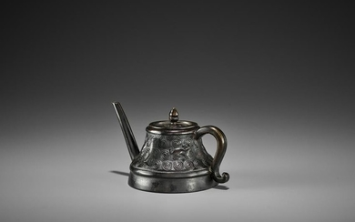 A BRONZE 'TEAPOT' WATER DROPPER AND COVER, KANGXI
