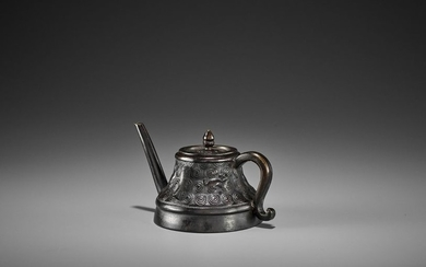 A BRONZE 'TEAPOT' WATER DROPPER AND COVER, KANGXI...