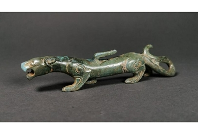 A CHINESE BRONZE FIGURE OF A DRAGON