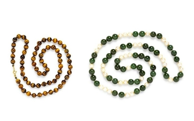 A Collection of Bead Necklaces,