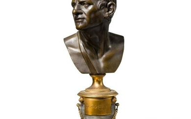 A French bronze bust of Demosthenes, mid-19th century