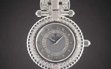 A LADIES 18K SOLID WHITE GOLD & DIAMOND THE ROYAL