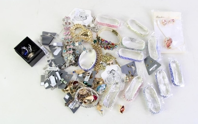A Large Group of New Crystal and Rhinestone Set Costume Jewellery