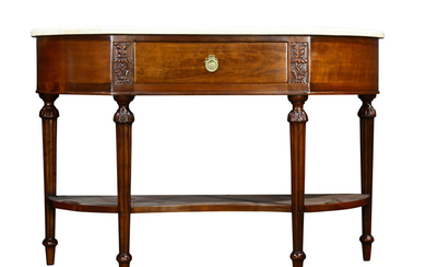 A Louis XVI style console table
