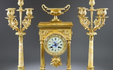 A Mid 19th Century French Gilt Brass and Siena...