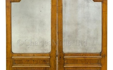 A PAIR OF BREAK ARCH SALOON DOORS, PROBABLY FROM...