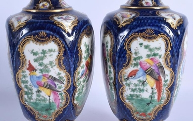 A PAIR OF EARLY 20TH CENTURY SAMSONS OF PARIS PORCELAIN