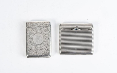 A VICTORIAN SILVER CIGARETTE CASE, I J EVANS AND CO