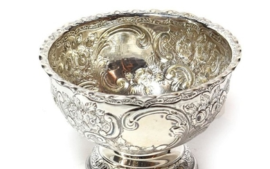 A Victorian silver bowl, by William Gibson and John Lawrence...
