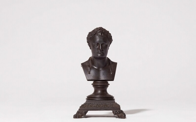 A cast iron bust of Emperor Napoleon