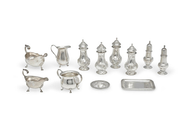 A group of assorted silver table articles