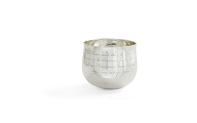 A large George III sterling silver tumbler cup