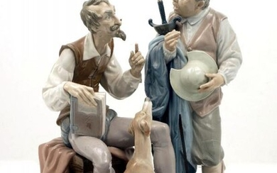 A large Lladro porcelain figure of Don...